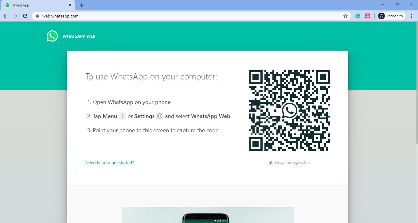 Open web.whatsapp.com