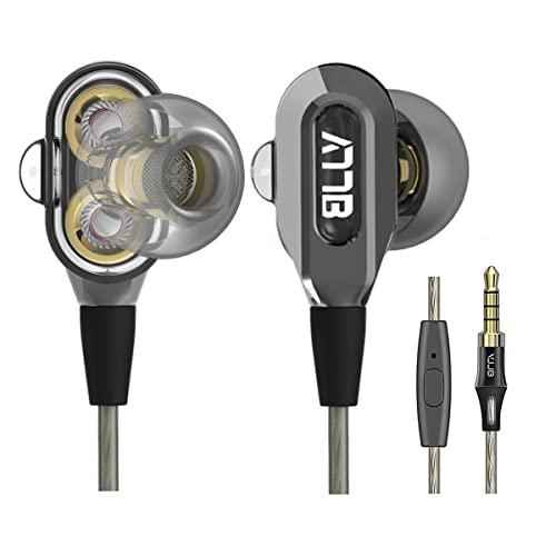 GranVela VJJB V1SHigh Definition Dual Dynamic Driver in-Ear Headphones with Mic