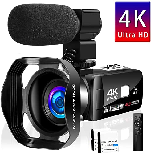 Seree Camcorder 4K WiFi Control Digital Camera, Video review