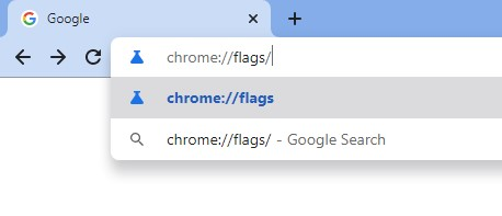 Enter 'Chrome://flags'