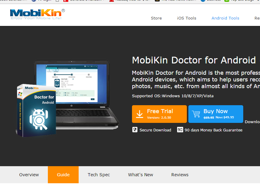 Download the Mobikin Doctor software