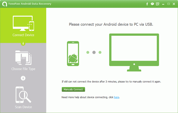 Download & install FonePaw Android Data Recovery
