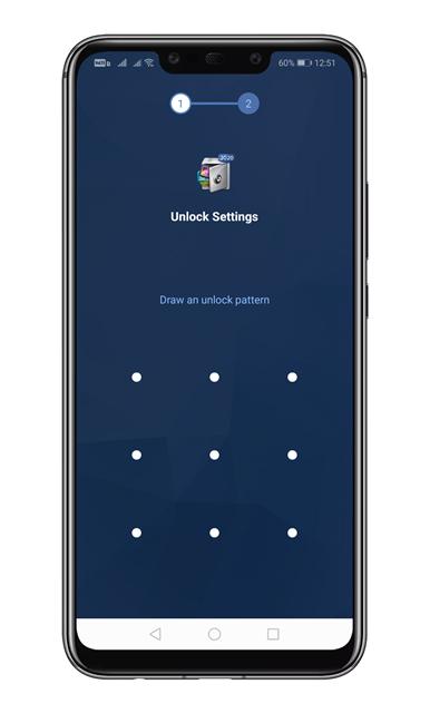 Draw an unlock pattern