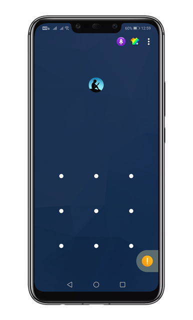 Draw the pattern to unlock the app