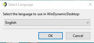 Select the language to use in WinDynamicDesktop