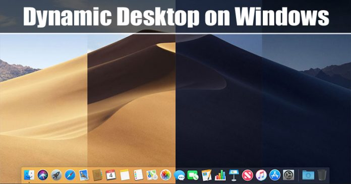 How To Get macOS Dynamic Desktop Feature on Windows 10