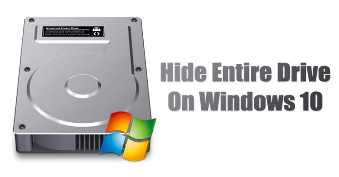 How to Hide an Entire Drive on Windows 10 in 2020